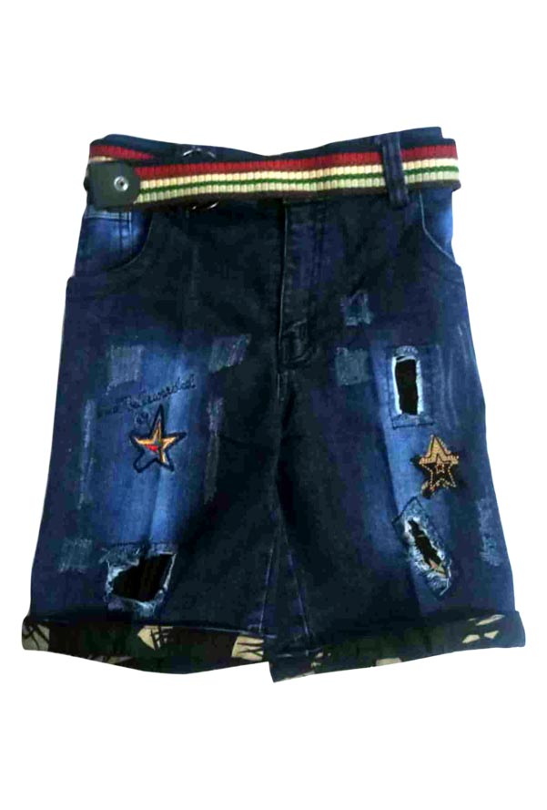 AE JUNE DENIM 02-BLUE-KIDS SHORTS & 3/4TH