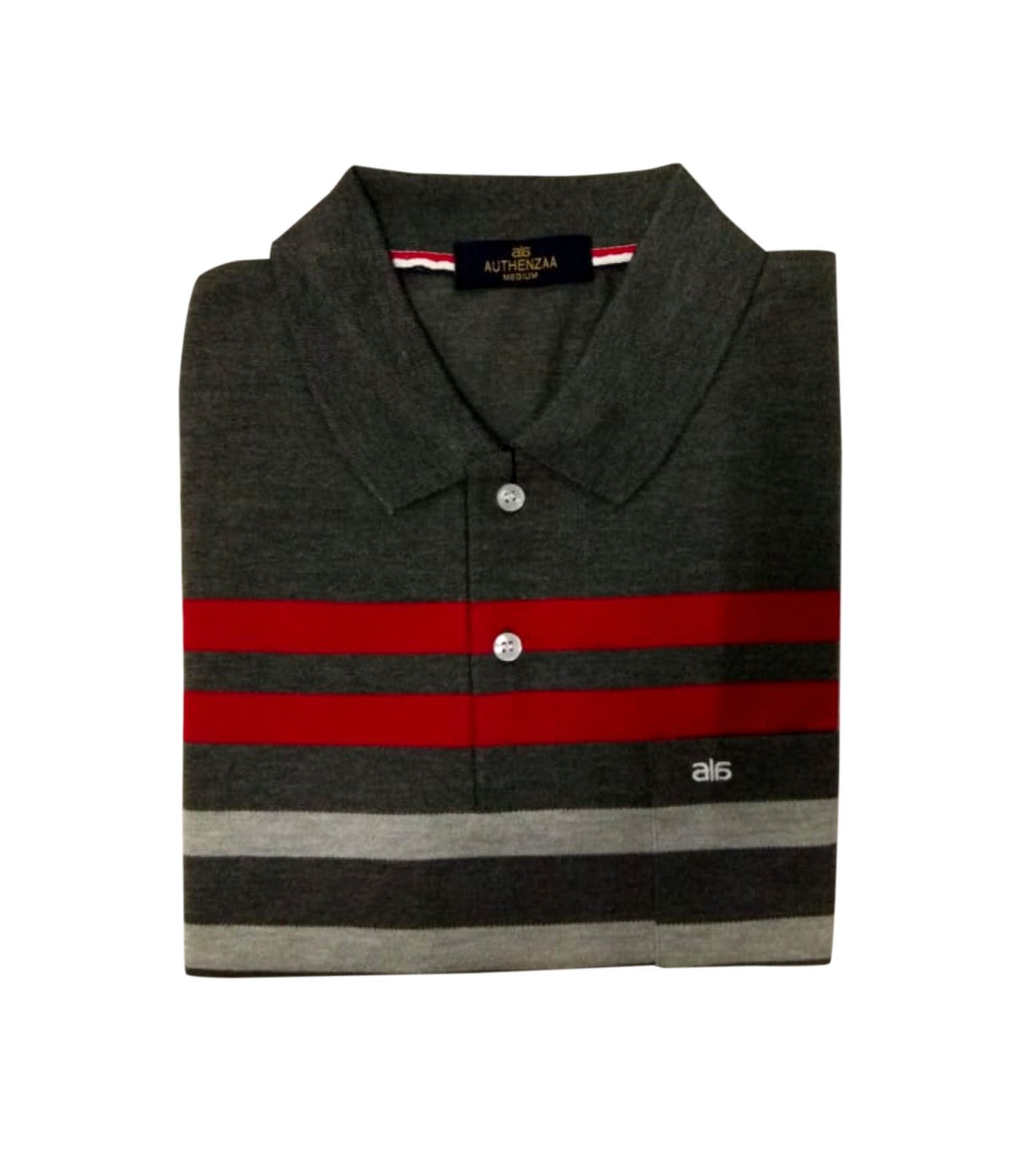 MEN'S FULL SLEEVES POLO T SHIRT-BLACK BROWN-RC-STF-163