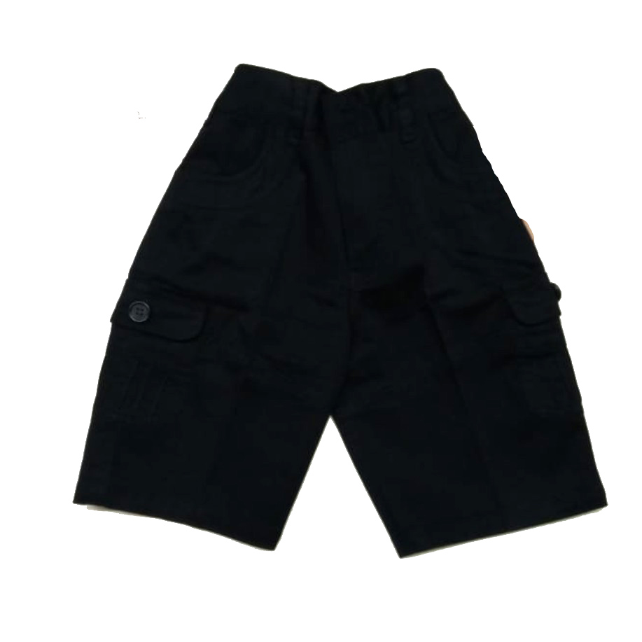 AARUSH DENIM 02-BLACK-KIDS SHORTS AND 3/4TH