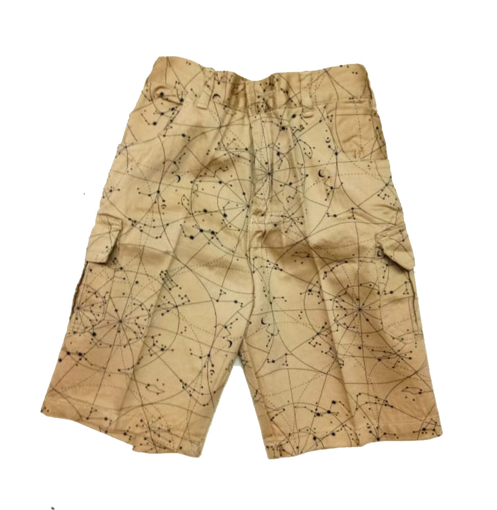 AARUSH DENIM 03-CAMEL-KIDS SHORTS AND 3/4TH