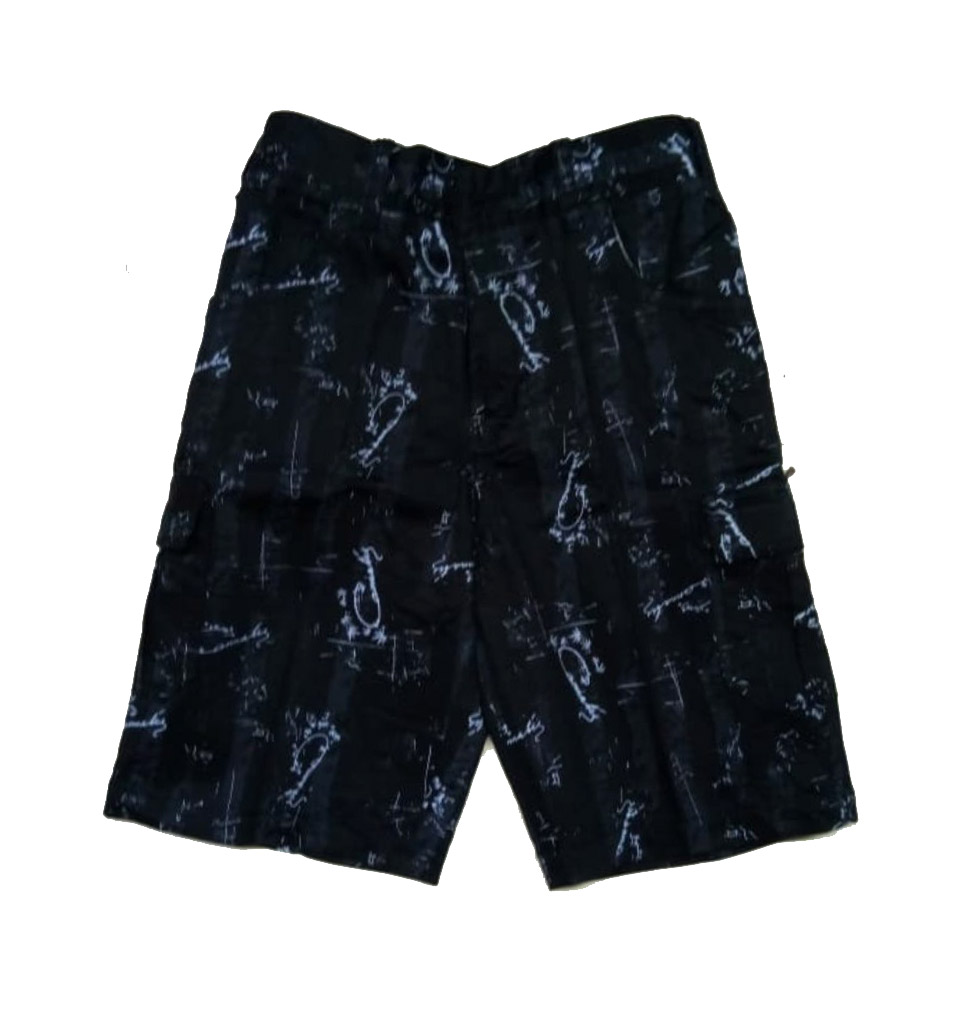 AARUSH DENIM 05-BLACK-KIDS SHORTS AND 3/4TH