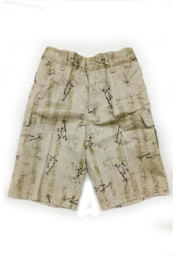 AARUSH DENIM 06-CREAM COFFEE-KIDS SHORTS AND 3/4TH