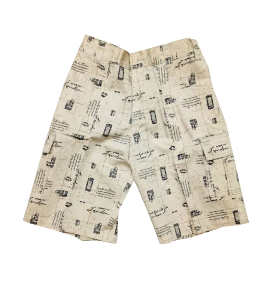 AARUSH DENIM 09-CREAM BLACK-KIDS SHORTS AND 3/4TH