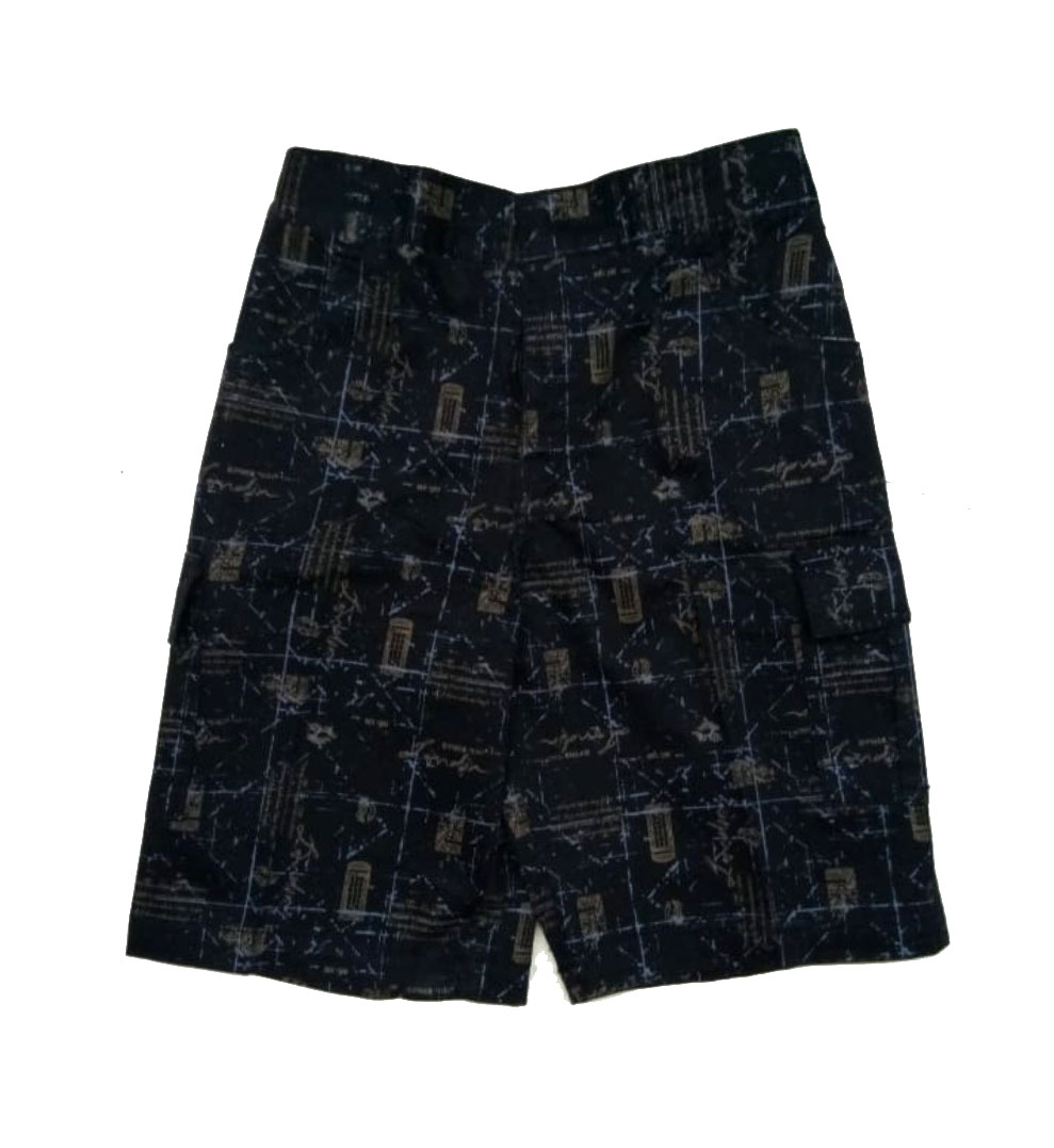 AARUSH DENIM 11-BLACK GRAY-KIDS SHORTS AND 3/4TH
