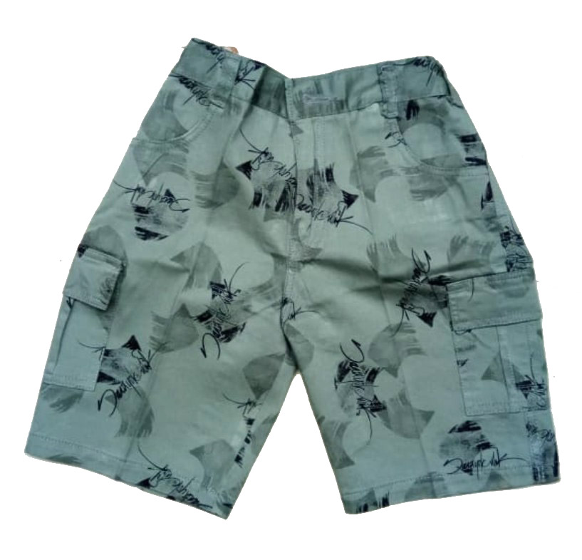 AARUSH DENIM 14-GREEN-KIDS SHORTS AND 3/4TH