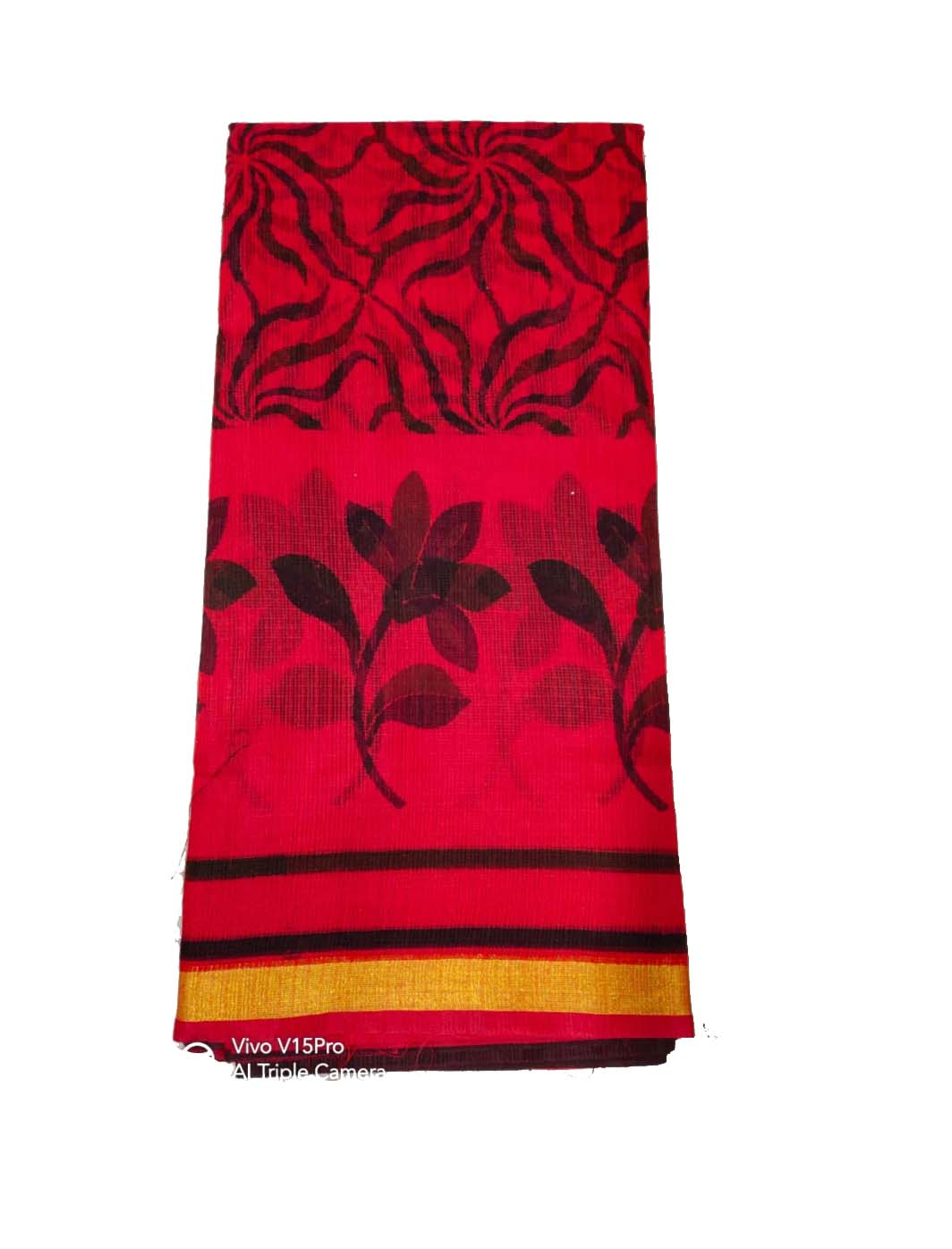 WOMEN SYNTHETIC DORIYA SAREE WITH BLOUSE-RED-DF JULY SUMMER COOL 02