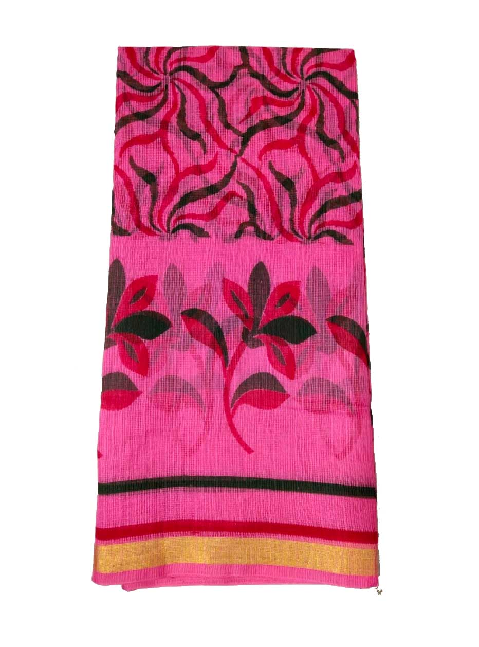 WOMEN SYNTHETIC DORIYA SAREE WITH BLOUSE-PINK-DF JULY SUMMER COOL 02