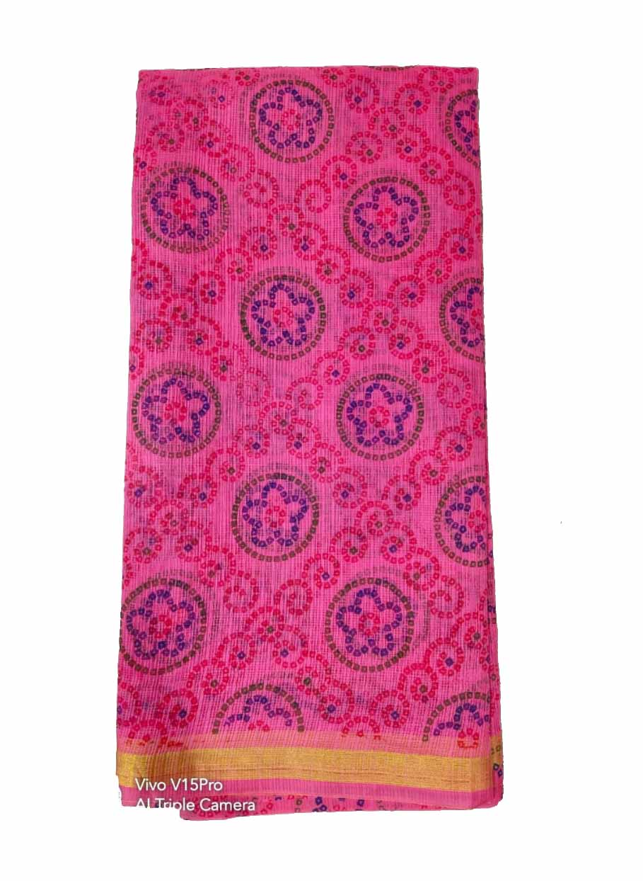 WOMEN SYNTHETIC DORIYA SAREE WITH BLOUSE-PINK-DF JULY SUMMER COOL 03