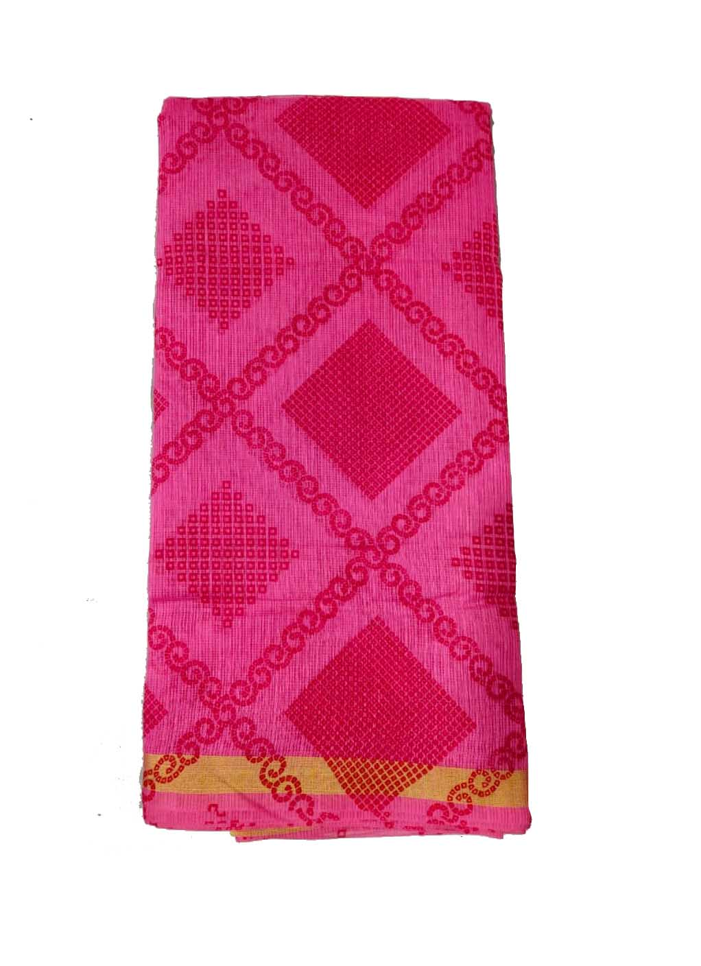 WOMEN SYNTHETIC DORIYA SAREE WITH BLOUSE-PINK-DF JULY SUMMER COOL 05