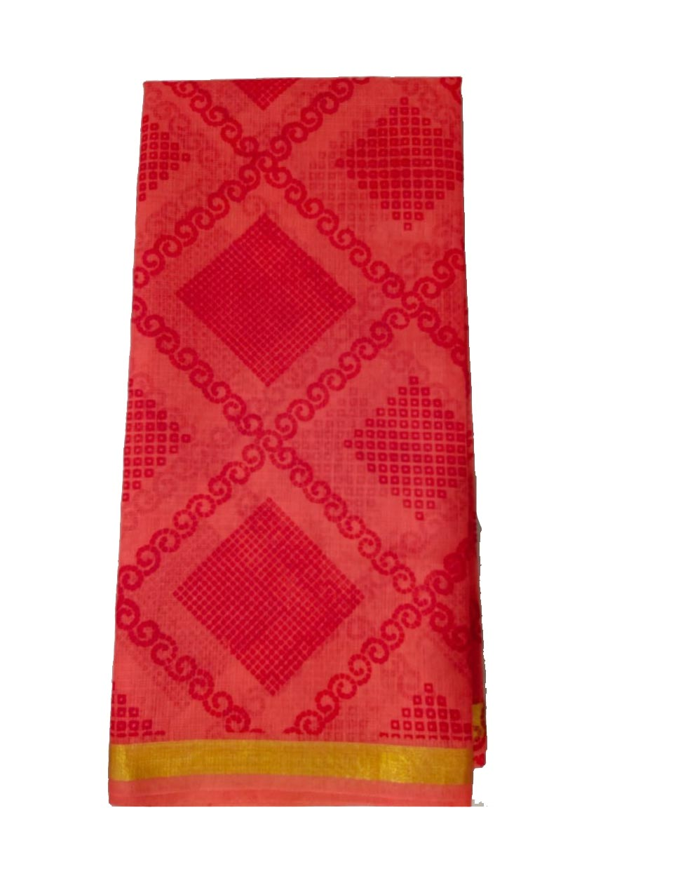WOMEN SYNTHETIC DORIYA SAREE WITH BLOUSE-PEACH-DF JULY SUMMER COOL 05