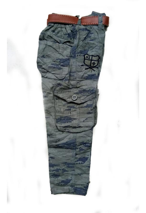 RI JULY D NO 3181-GRAY NAVY-KIDS TROUSER