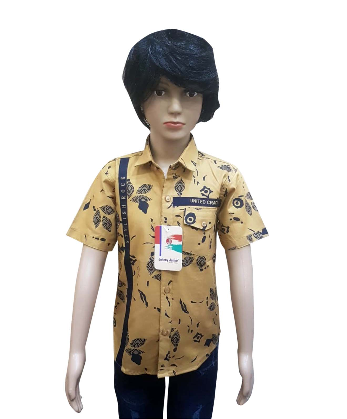 KHS AUG 2019 12-KHAKHI NAVY KIDS HALF SLEEVES SHIRT