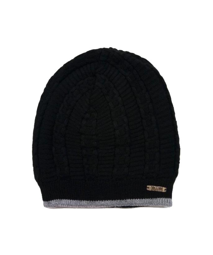 MNC CORAL 01-BLACK MEN WINTER CAP