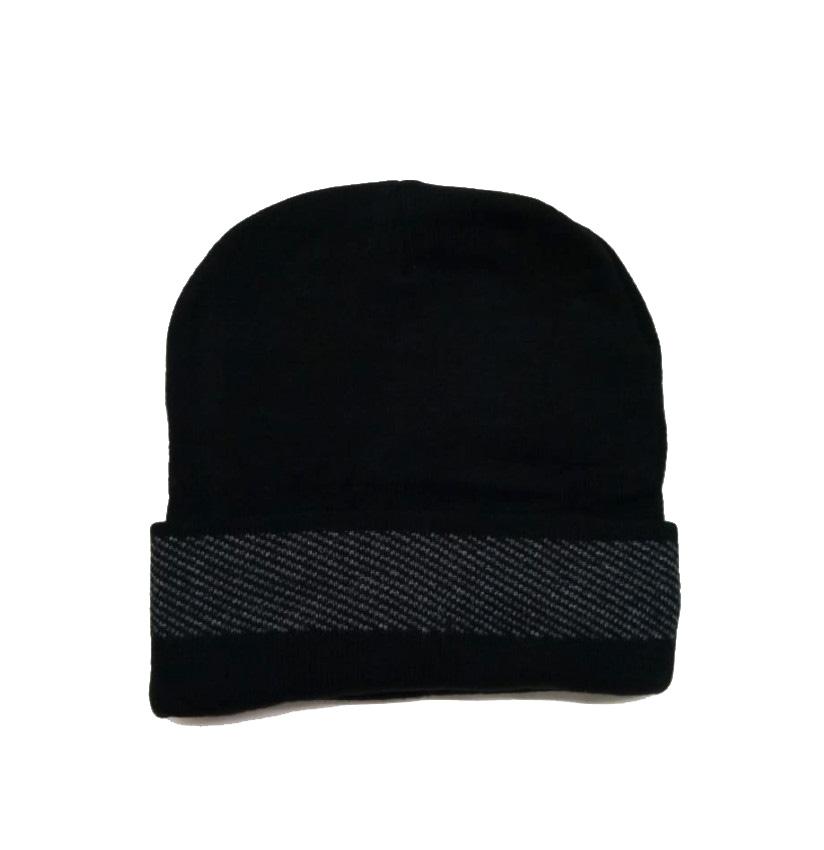 MNC JFD BORDER 01-BLACK MEN WINTER CAP