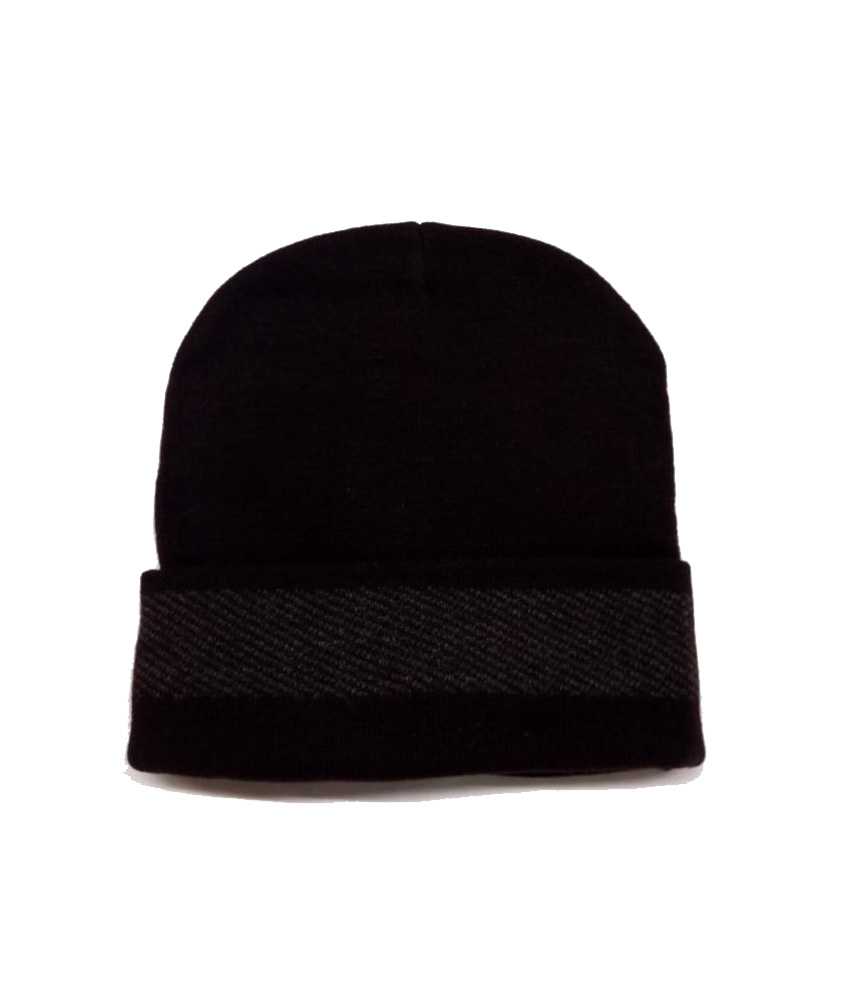 MNC JFD BORDER 01-PURPLE MEN WINTER CAP