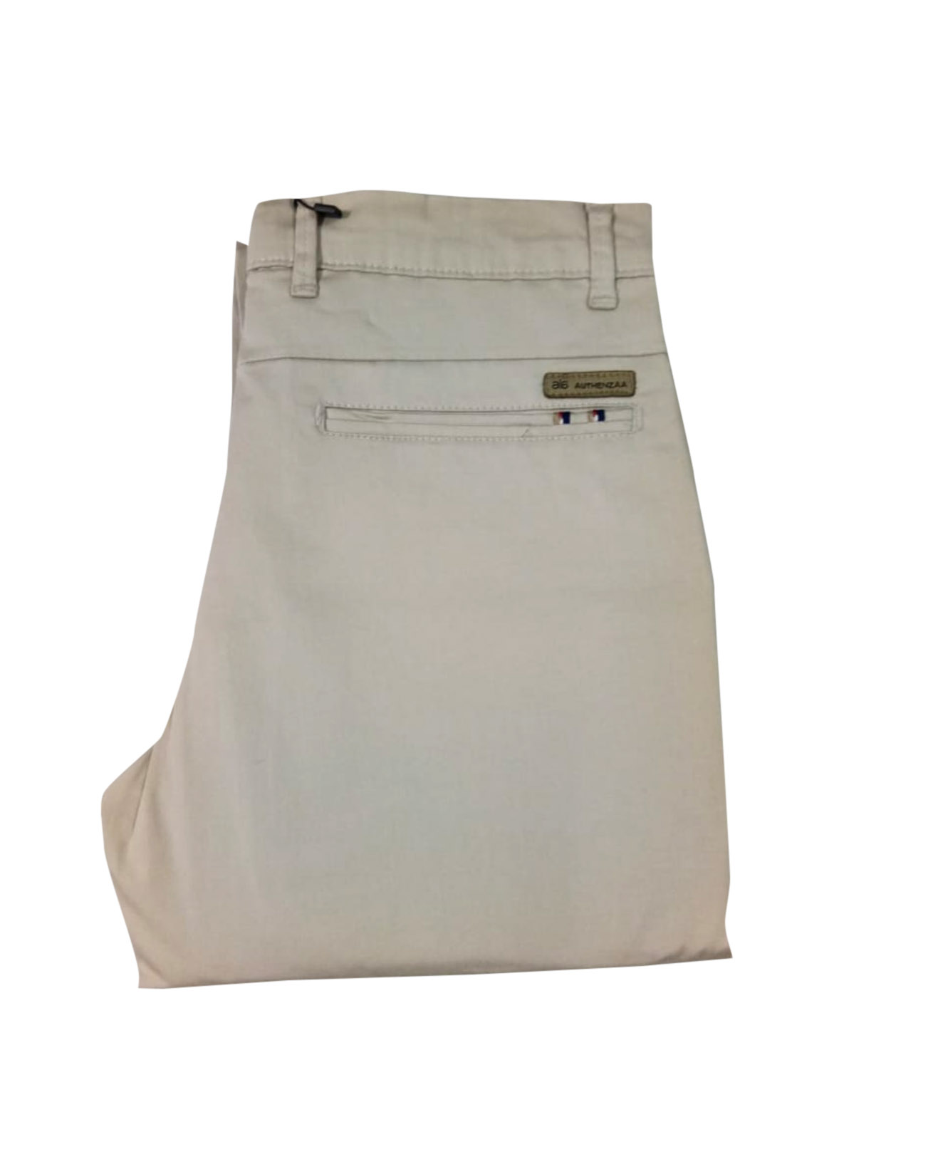 UTD SEP SATIN 01 2019-CREAM MEN CASUAL TROUSER