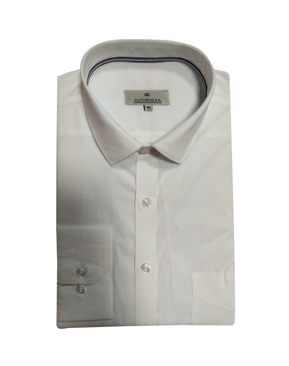 INDR WHITE LACE 1-WHITE MEN'S FORMAL SHIRT