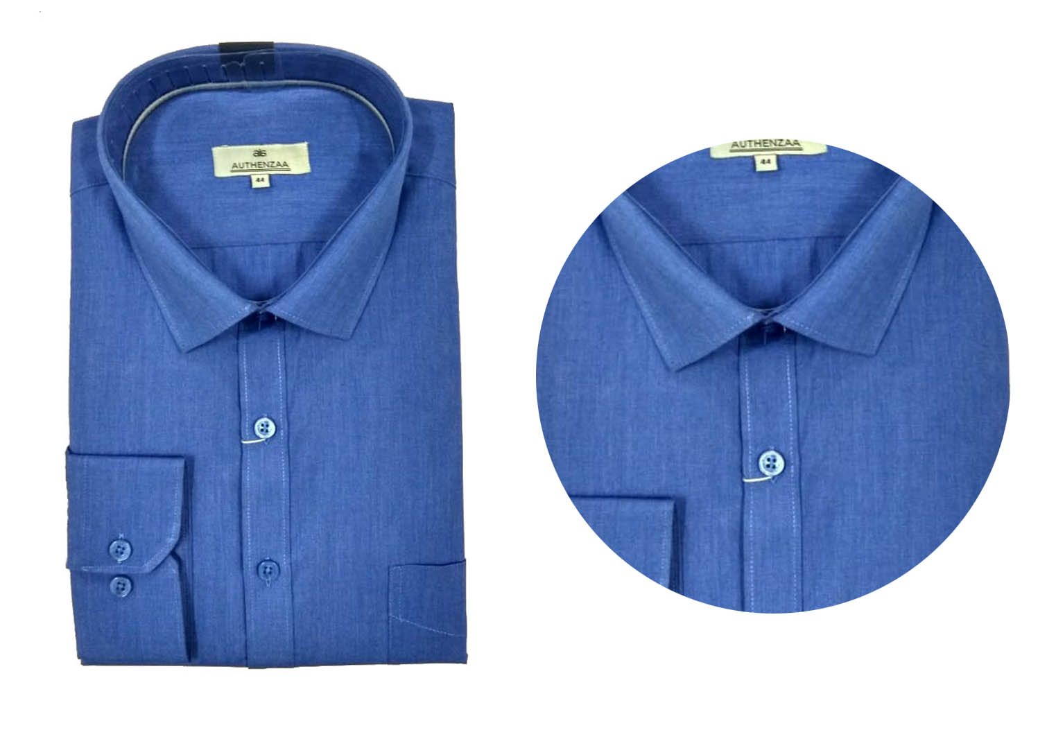 BT SEP 01 2019-DARK ROYAL BLUE MEN'S FORMAL SHIRT