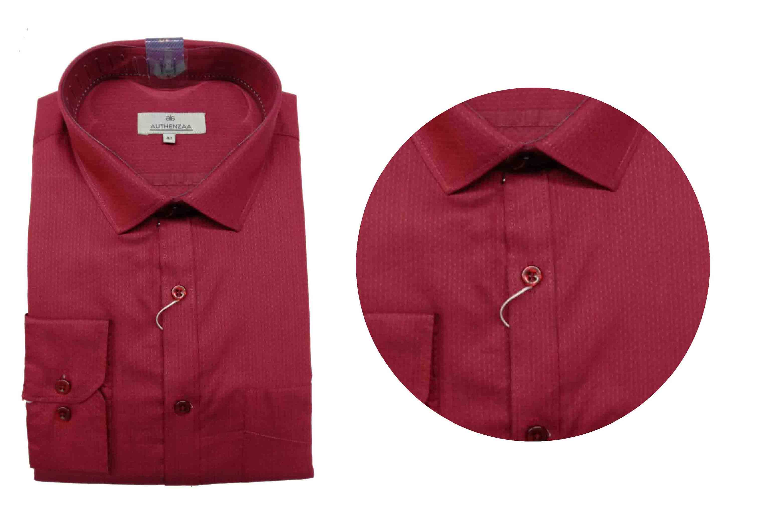 BT SEP 03 2019-MAROON DOT MEN'S FORMAL SHIRT