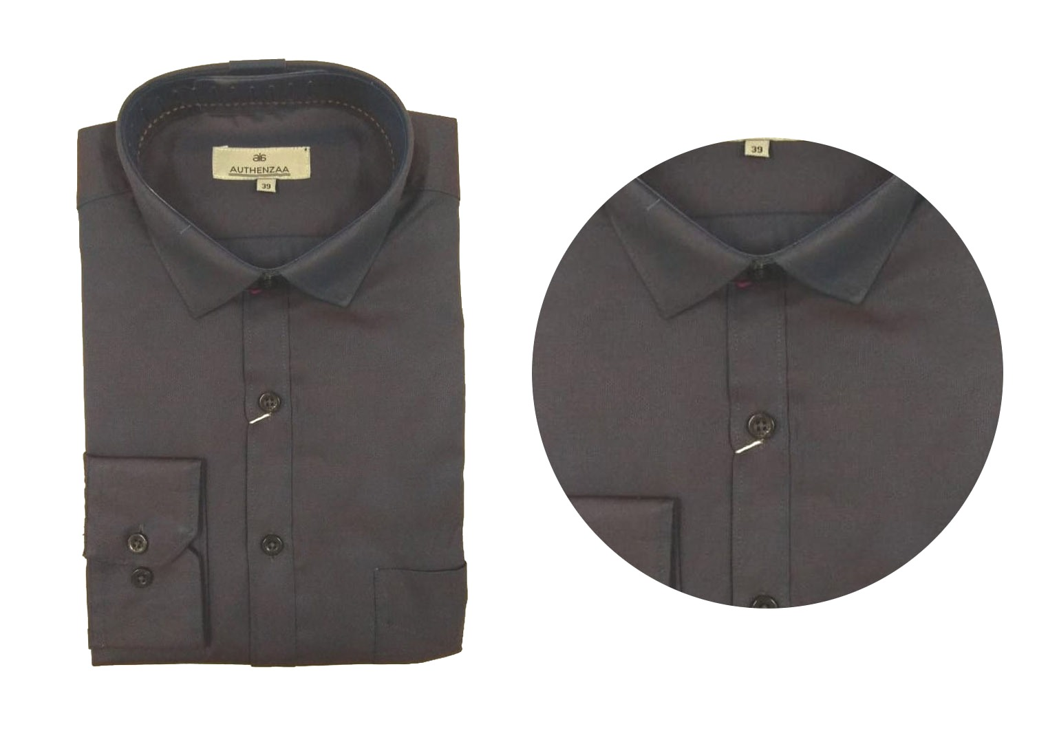 BT SEP 03 2019-CHARCOAL MEN'S FORMAL SHIRT