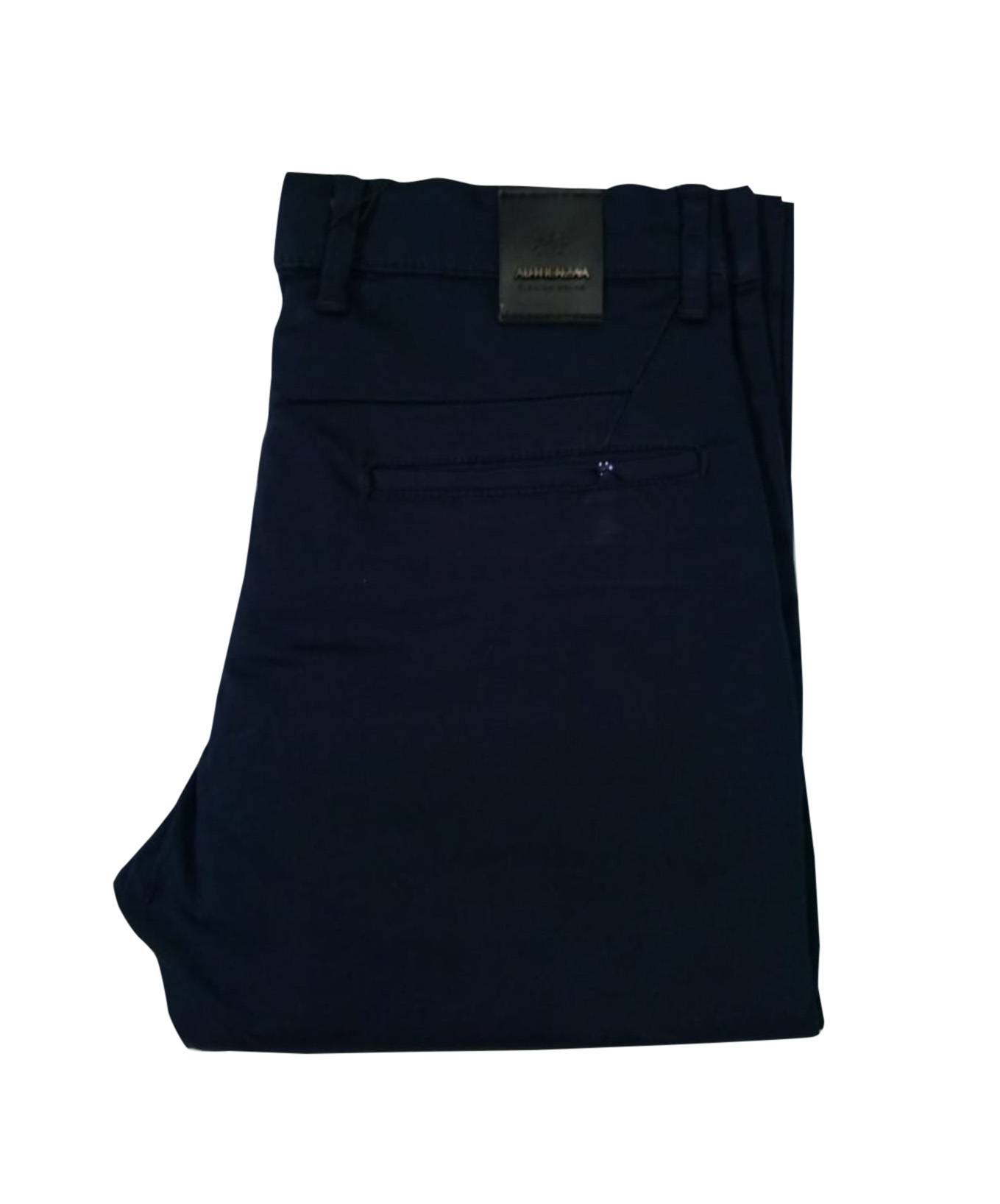 UTD SEP SATIN 02 2019-NAVY BLUE MEN CASUAL TROUSER