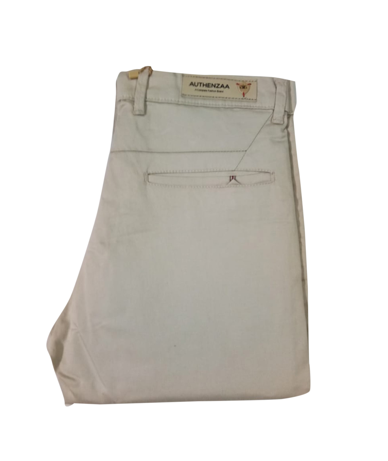 UTD SEP SATIN 02 2019-CREAM MEN CASUAL TROUSER