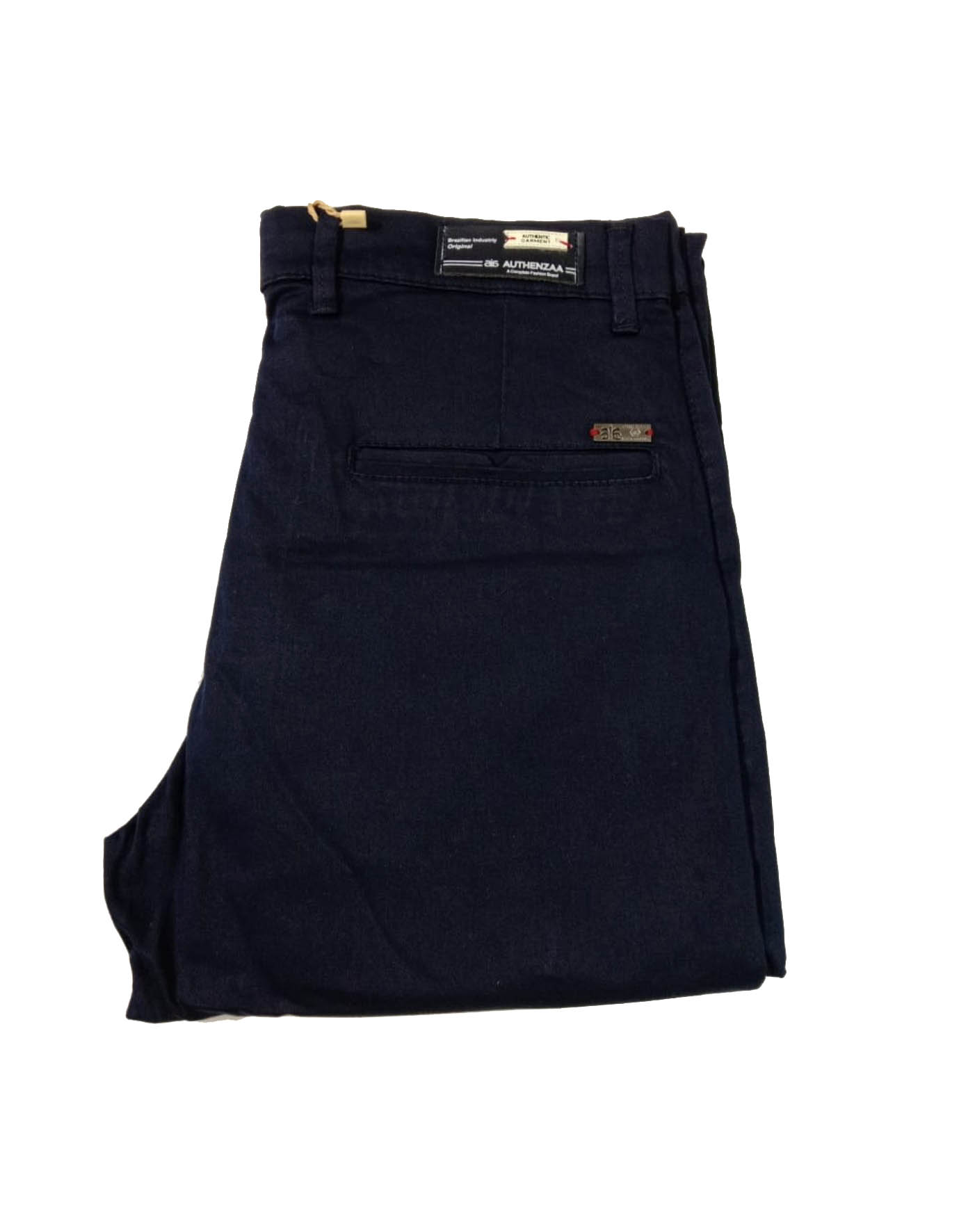UTD SEP SATIN 03 2019-NAVY BLUE MEN CASUAL TROUSER