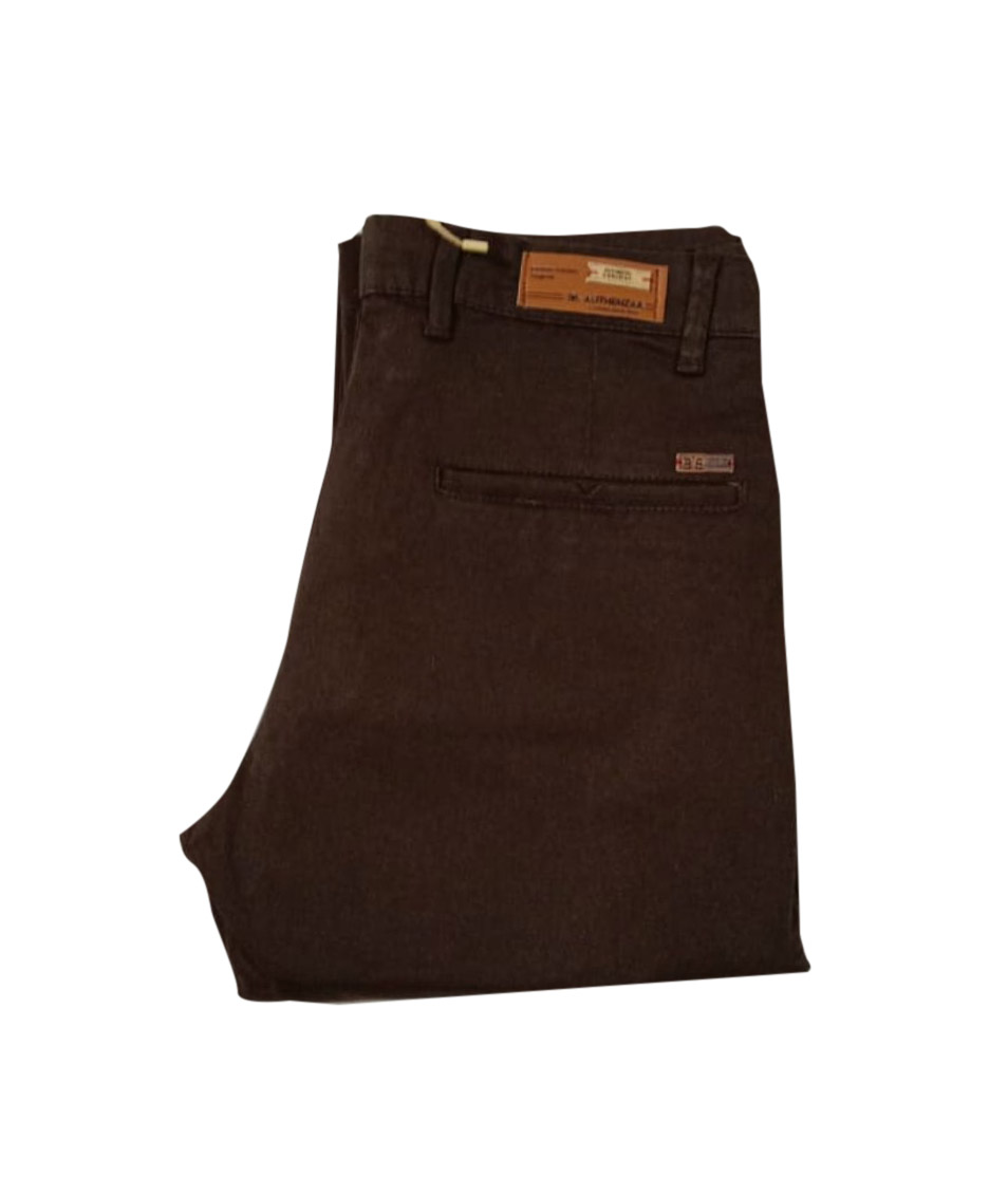 UTD SEP SATIN 03 2019-COFFEE MEN CASUAL TROUSER