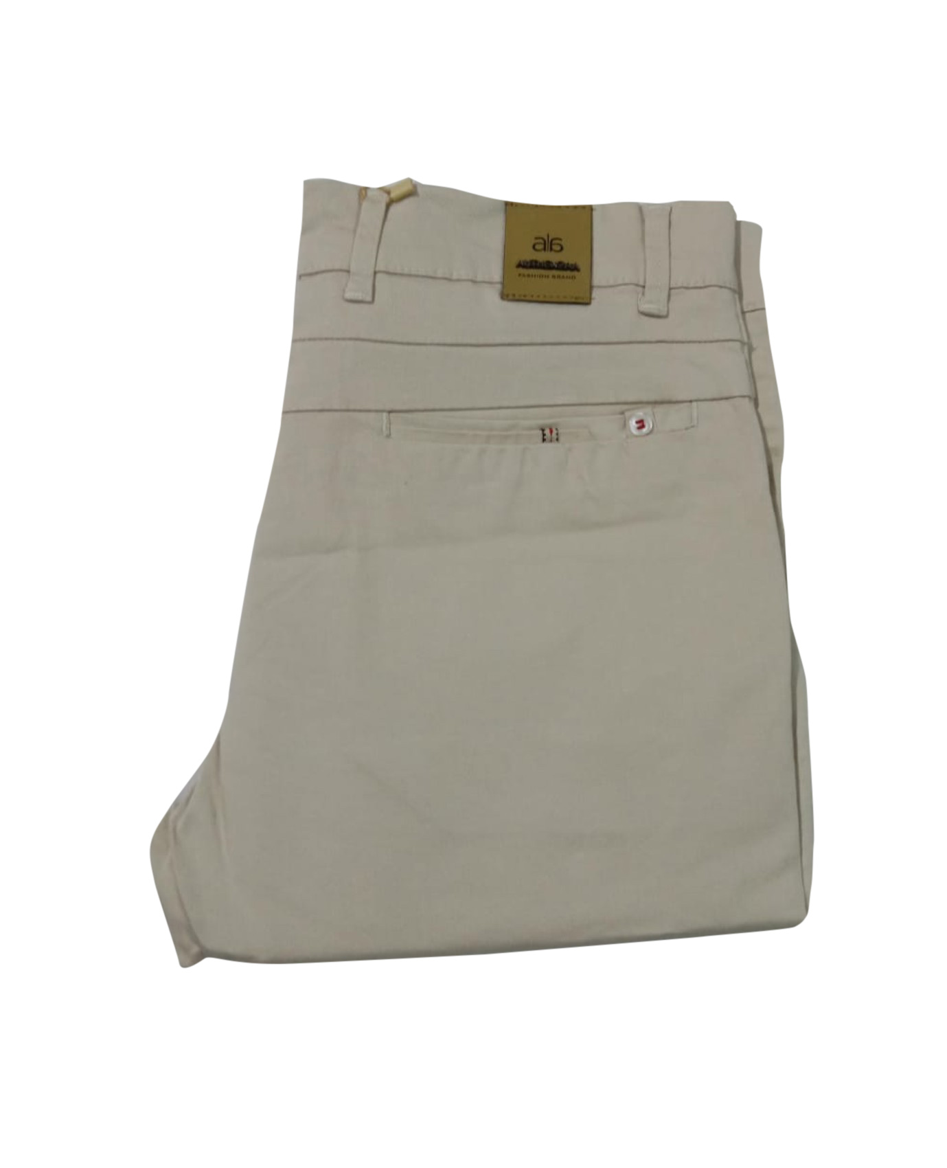 UTD SEP SATIN 04 2019-CREAM MEN CASUAL TROUSER