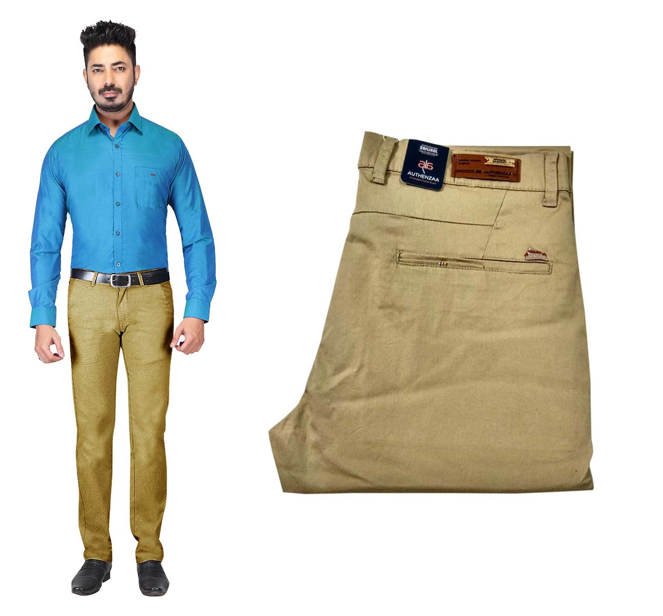 UTD OCT 23581 2019-BROWN MEN CASUAL TROUSER
