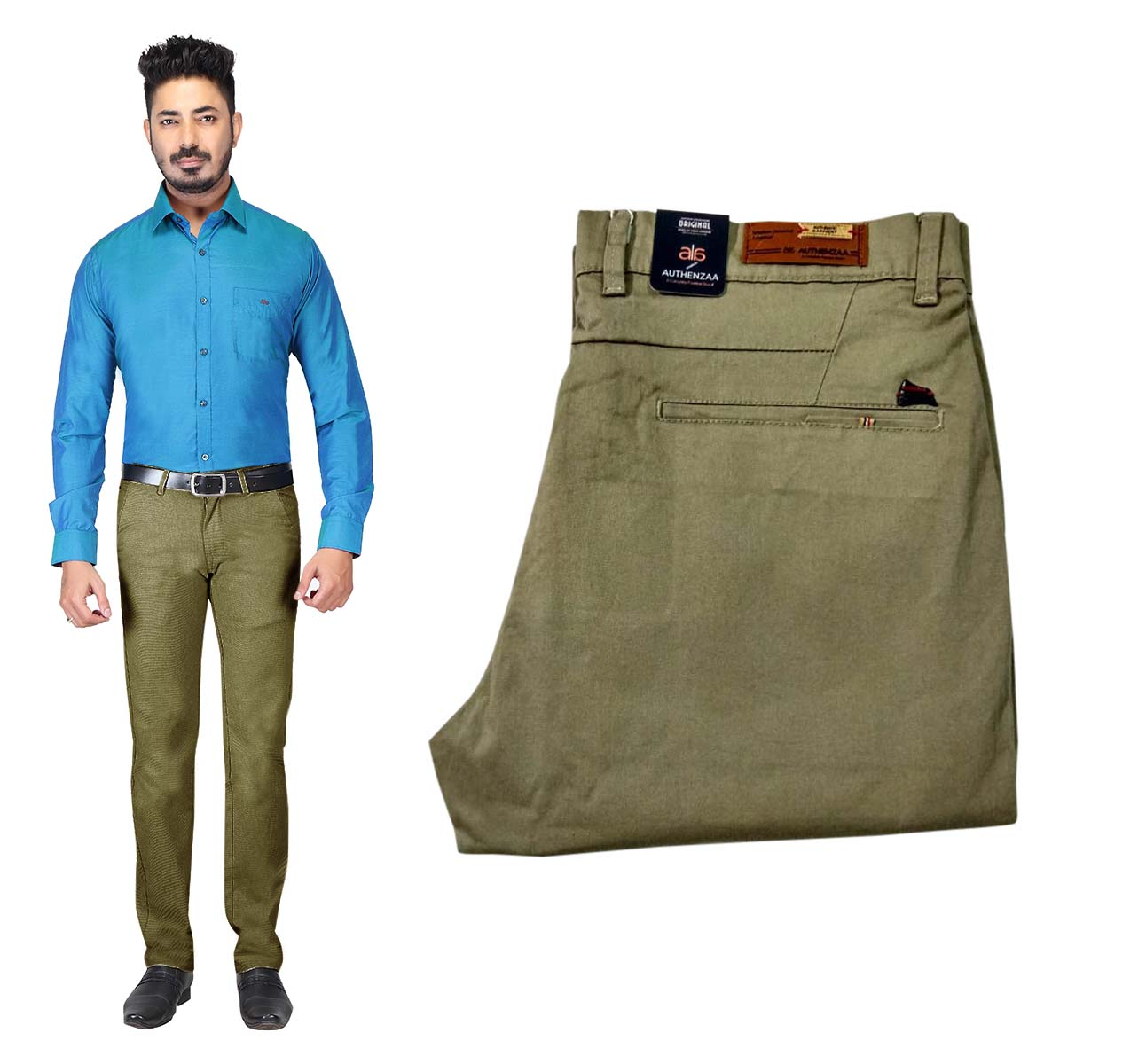 UTD OCT 23581 2019-OLIVE MEN CASUAL TROUSER