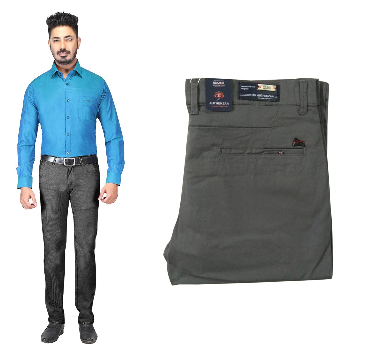 UTD OCT 23581 2019-GRAY MEN CASUAL TROUSER