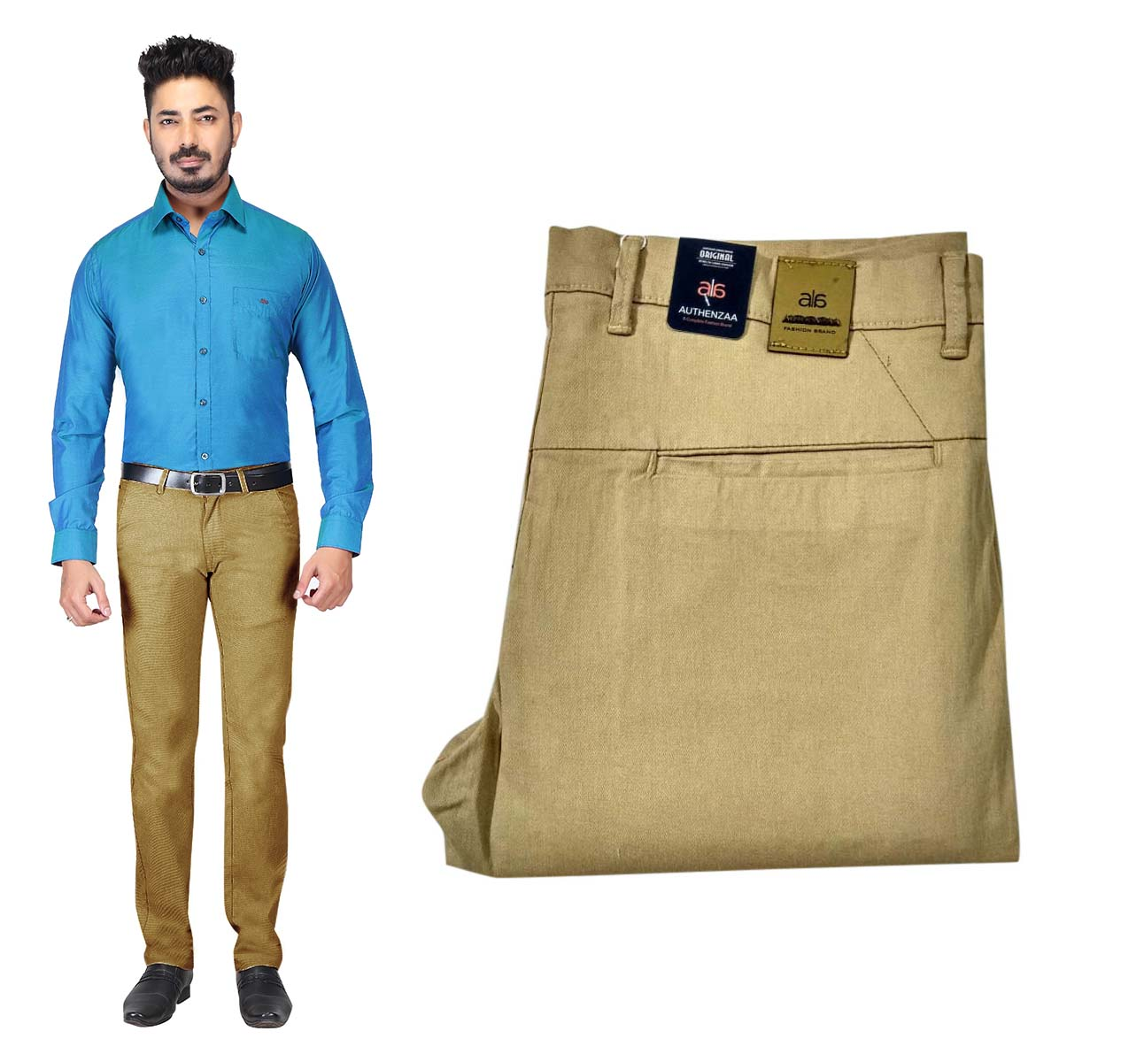 UTD OCT SUPER 97 2019-KHAKHI MEN CASUAL TROUSER