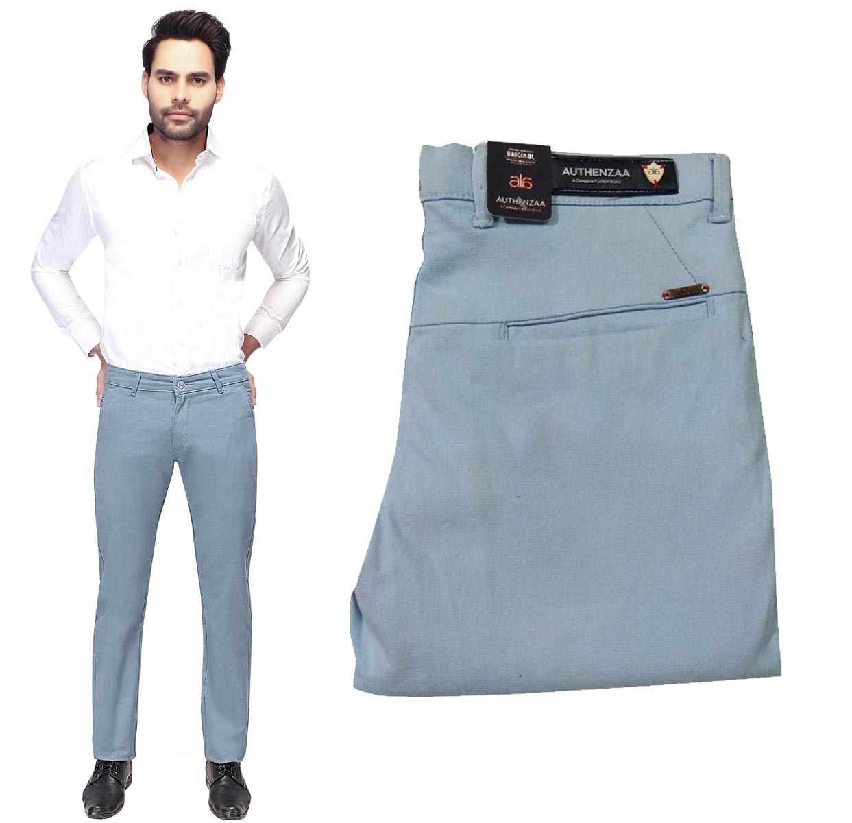 UTD OCT SUPER 97 2019-SKY BLUE MEN CASUAL TROUSER