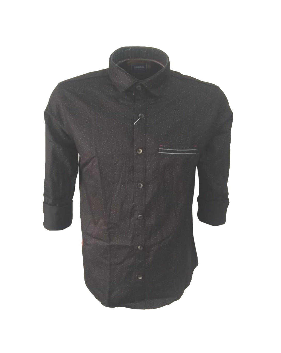 NC OCT J 711 2019-BLACK MENS CASUAL SHIRT