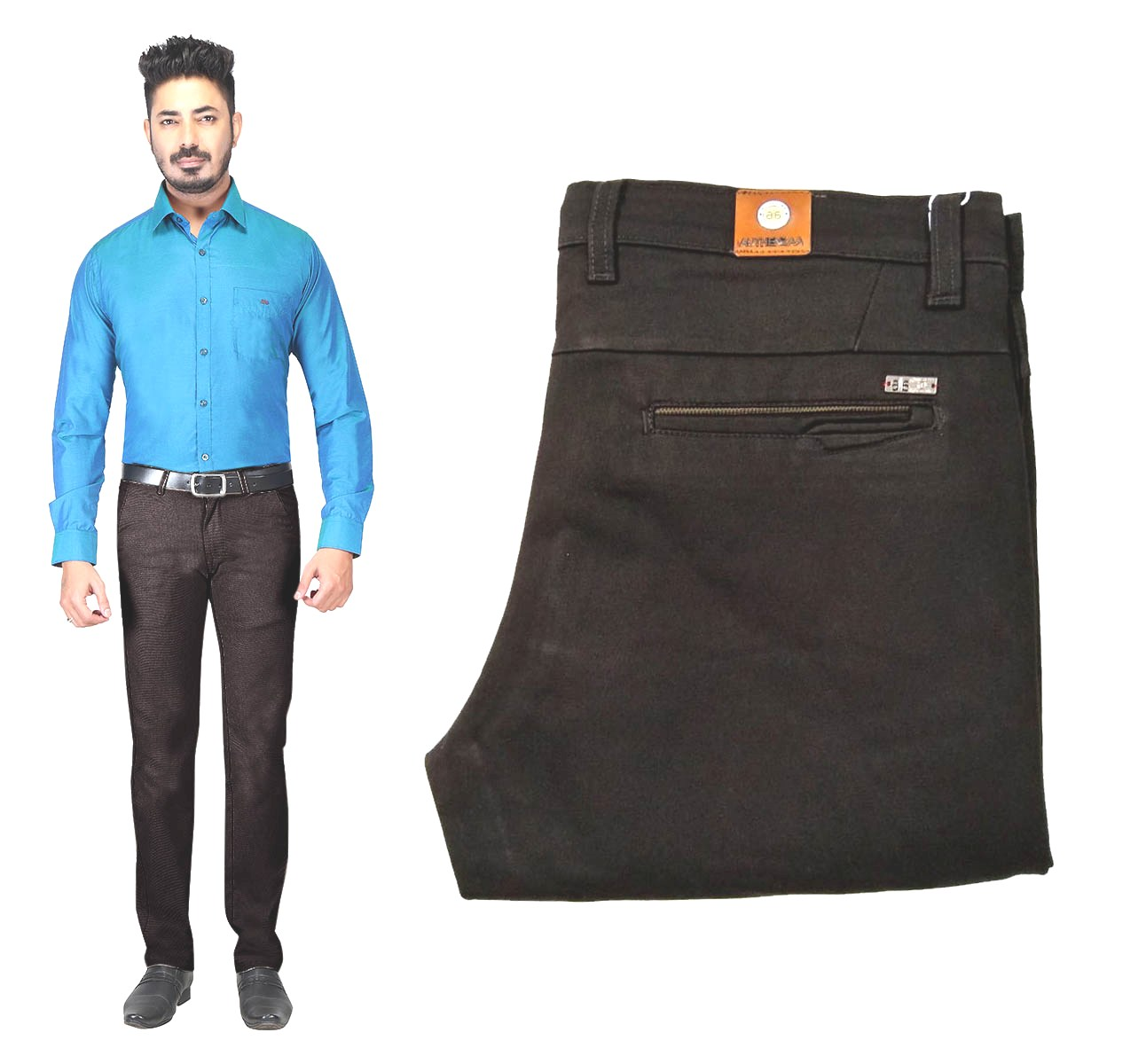 AE DYE KNIT 2019-COFFEE MEN CASUAL TROUSER