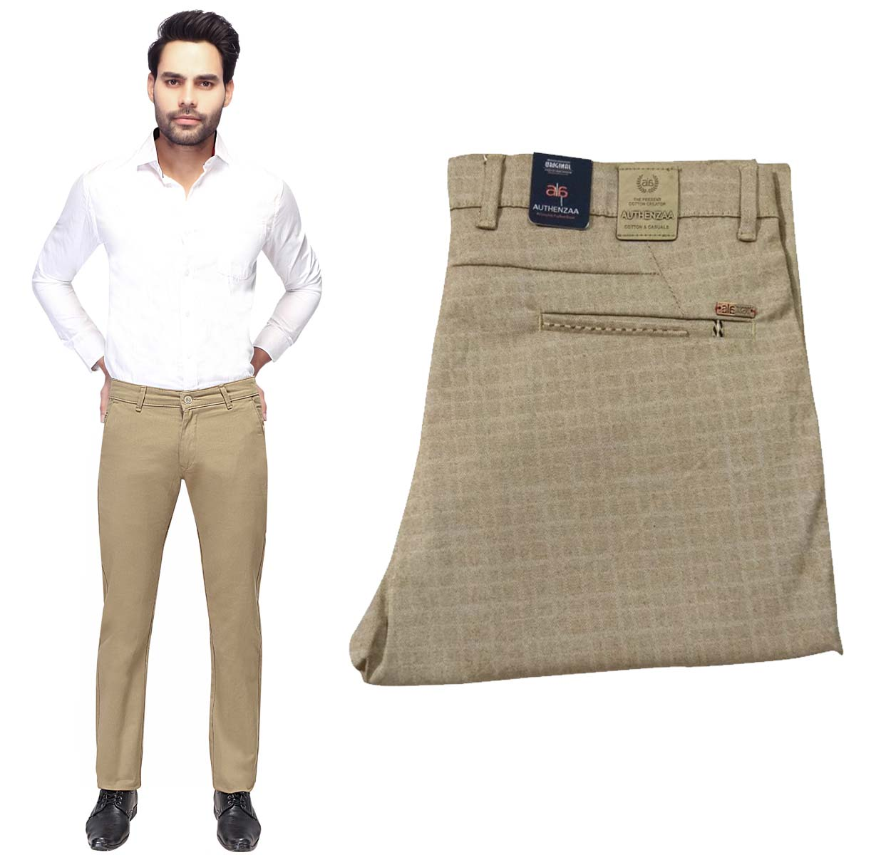 UTD OCT D 121 2019-KHAKHI MEN CASUAL TROUSER
