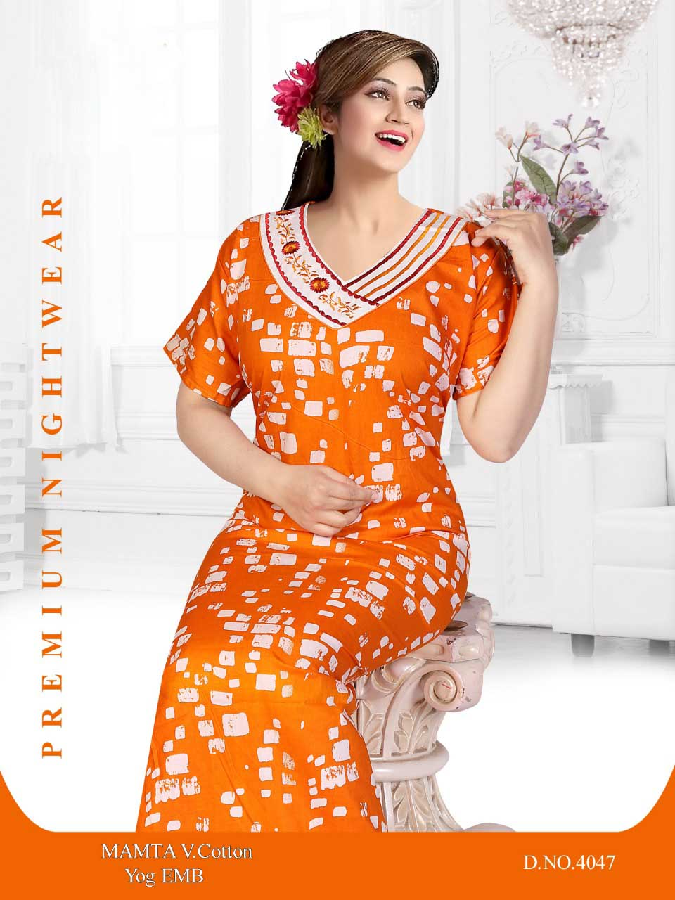 WOMEN NIGHTY-ORANGE-ML JUNE 4047