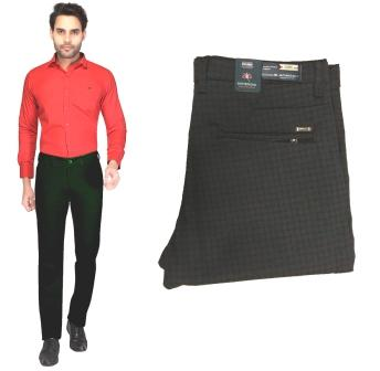 UTD NOV CM-1144 2019-BLACK MEN CASUAL TROUSER