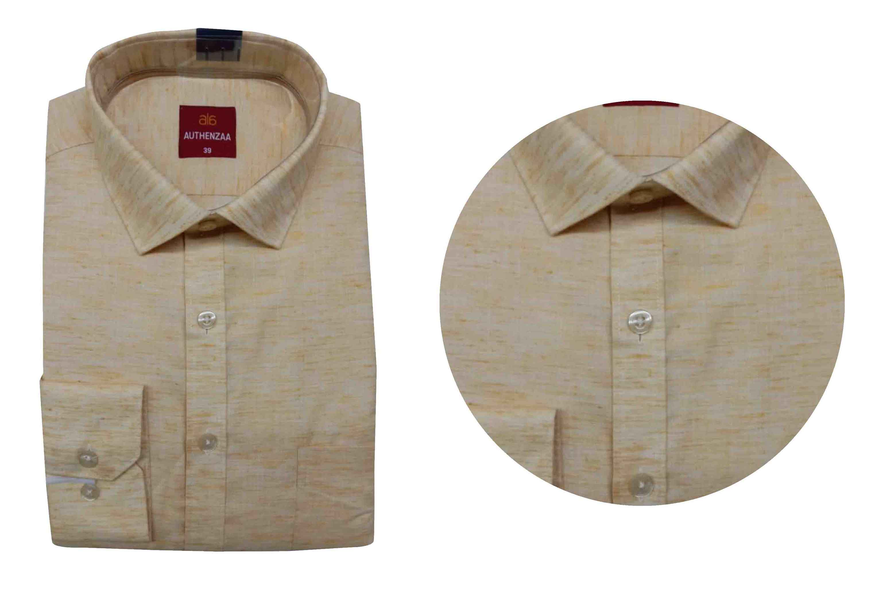 BT WALKMAN 2019-YELLOW MEN'S FORMAL SHIRT