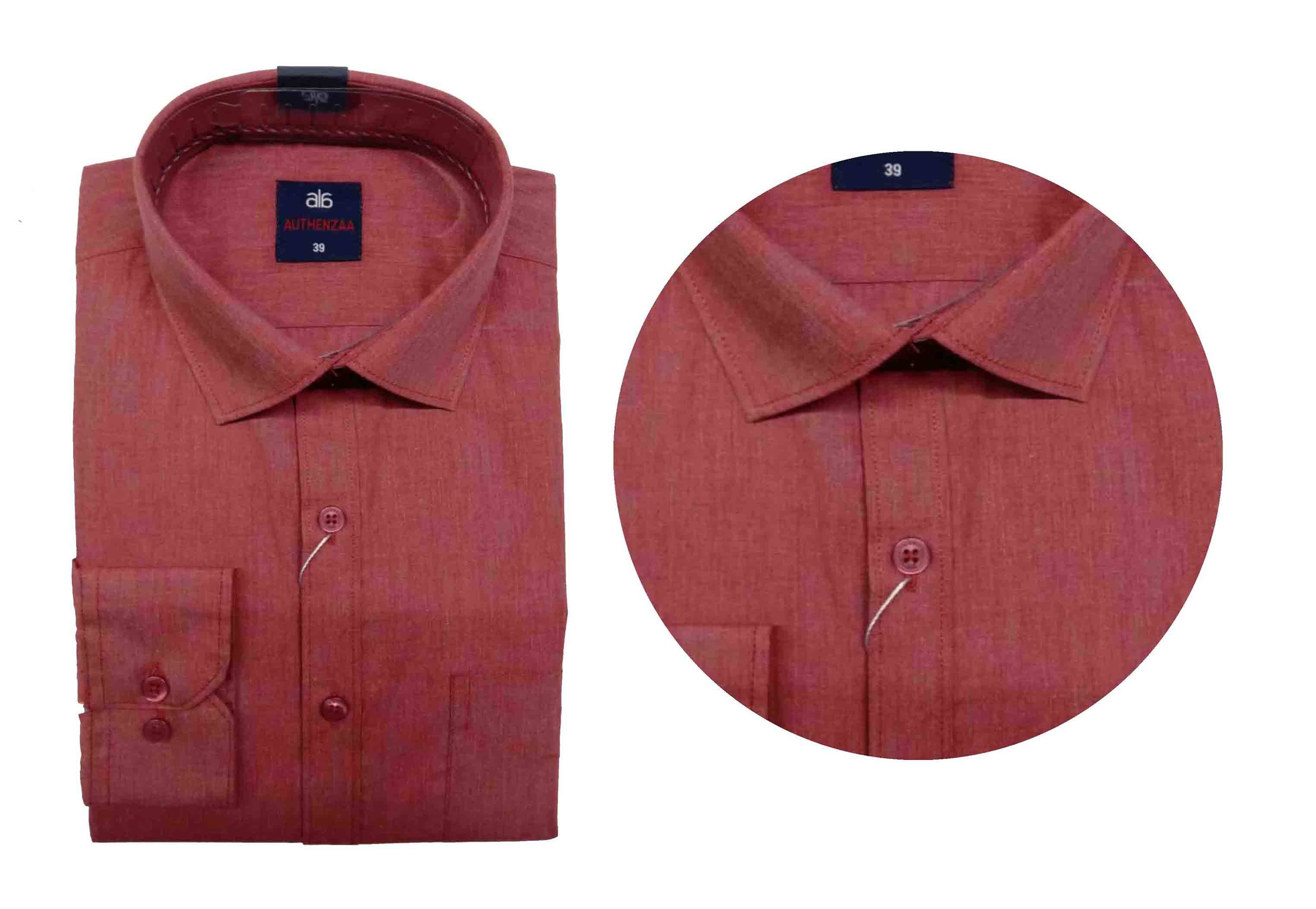 BT WALKMAN 2019-RED MEN'S FORMAL SHIRT