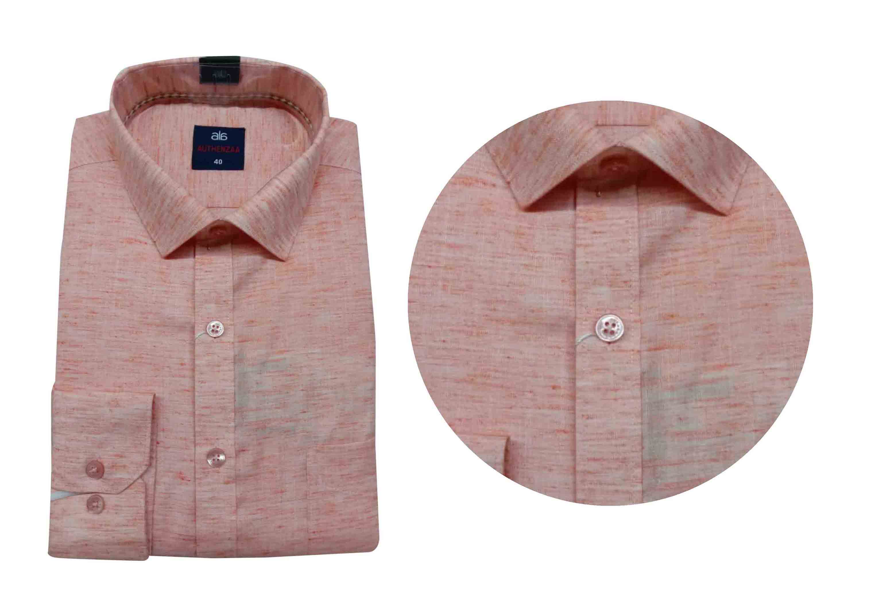 BT WALKMAN 2019-LINEN ORANGE MEN'S FORMAL SHIRT