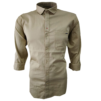 NC JAN J 714 2019-BEIGE MENS CASUAL SHIRT