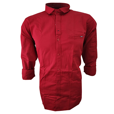 NC JAN J 714 2019-RED MENS CASUAL SHIRT