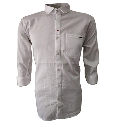 NC JAN J 714 2019-WHITE MENS CASUAL SHIRT