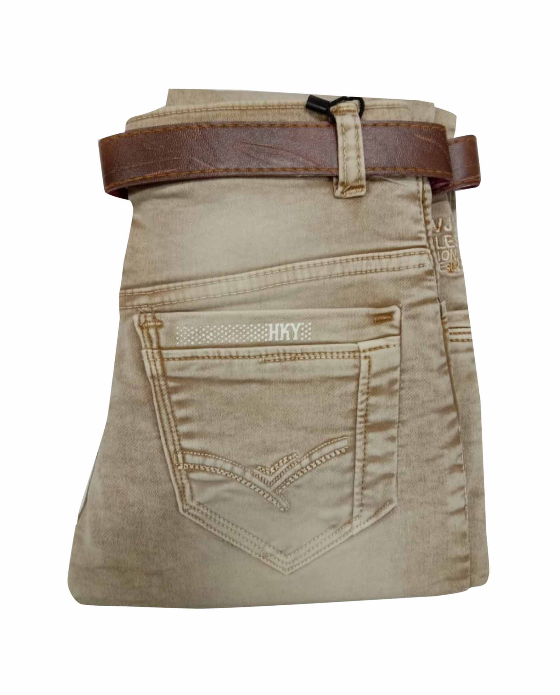 RI JAN 3549 2020-LIGHT BROWN-KIDS DENIM JEANS