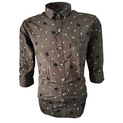 NC FEB J 721 2020-BROWN MENS CASUAL SHIRT