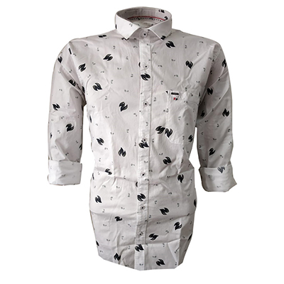 NC FEB J 721 2020-WHITE MENS CASUAL SHIRT