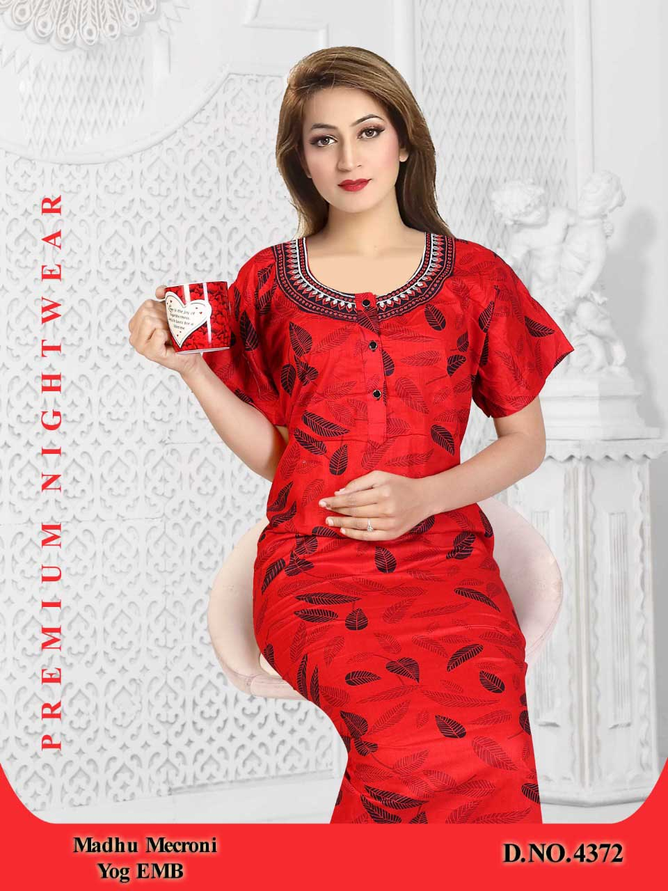 WOMEN NIGHTY-RED-ML JUNE 4372