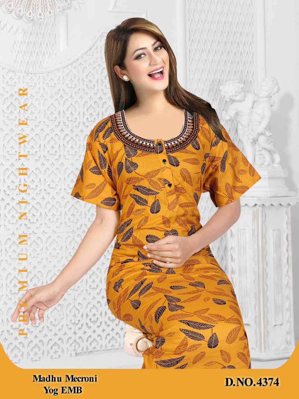 WOMEN NIGHTY-YELLOW-ML JUNE 4374